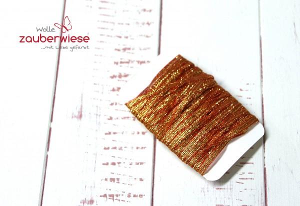 Glitzerband gold-orange