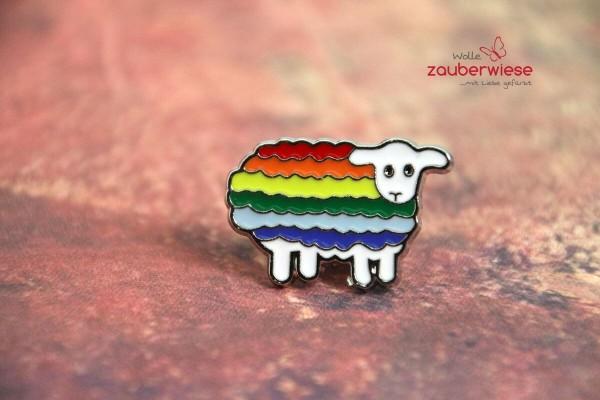Emaille Pin Regenbogenschaf