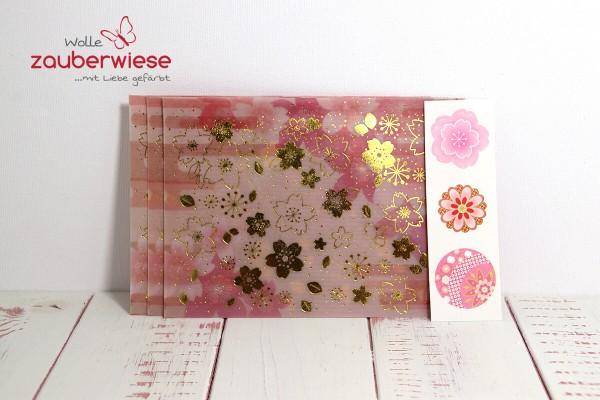 Umschlag Blumen rosa