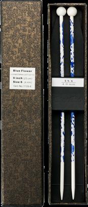 Jackenstricknadeln 23cm, Blue Flower