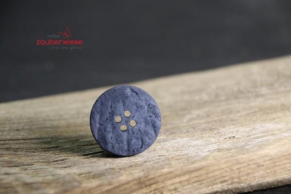 Kokosknopf 25mm dunkelblau